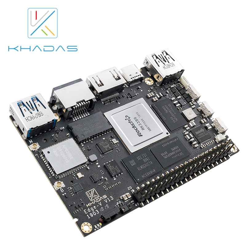 New Khadas SBC Edge-V Pro RK3399 With 4G DDR4 + 32GB EMMC5.1 Single Board Computer