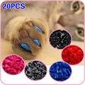 Мягкие модные кошачьи колпачки для коготков, размеры XS, S, M, L, 20 шт. в наборе