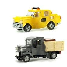 High-tech series bus car creator expert MOC-14997 taxi MOC-15666 stare ciężarówki cegły klocki budowlane na prezenty dla dzieci