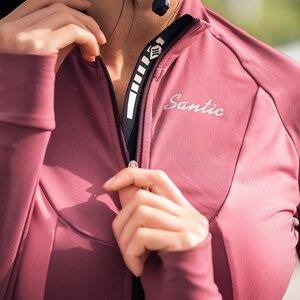Image 5 - Santic cyclisme vestes hiver polaire thermique manteau automne échauffement vélo coupe vent coupe vent vtt maillots taille asiatique L9C01104
