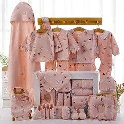 18/22 peças roupas recém-nascidos presente do bebê algodão puro bebê conjunto 0-12 meses outono e inverno crianças roupas terno unissex sem caixa