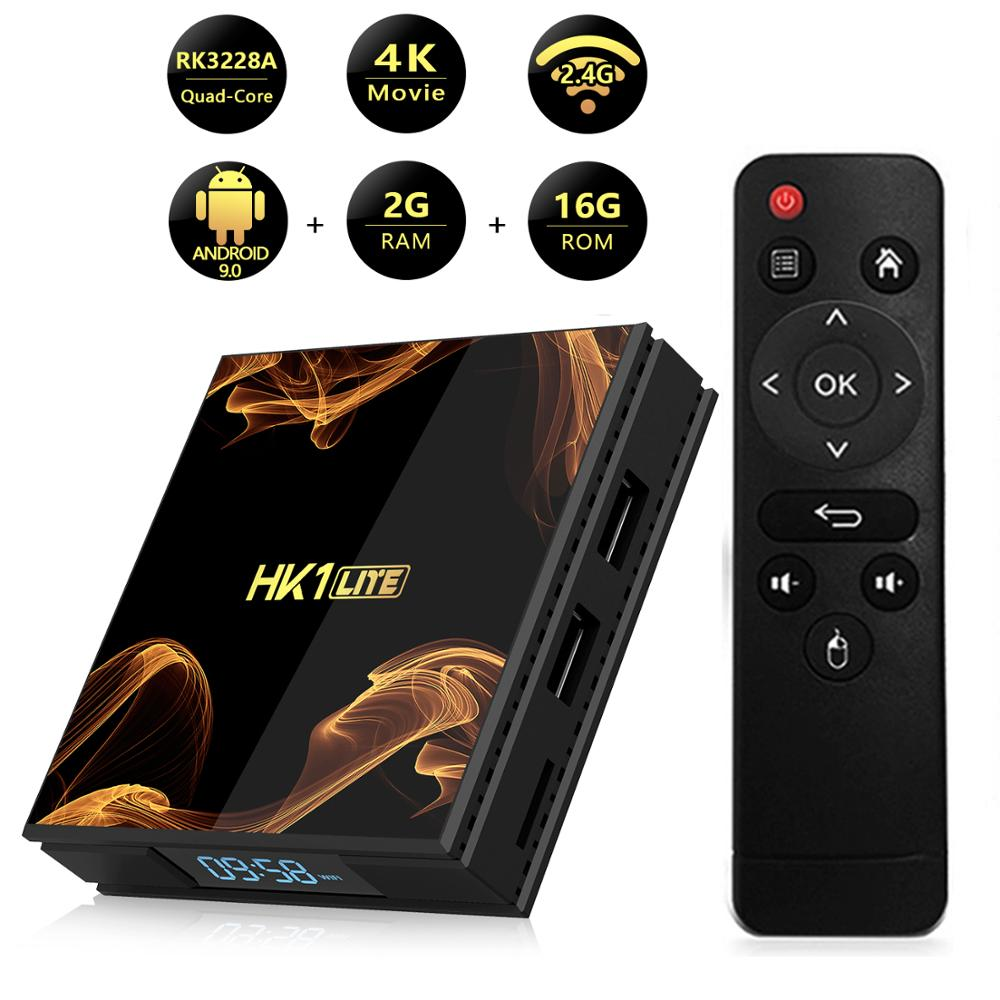 New RK3228A 2GB 16GB Android 9.0 TV Box Support WIFI LED Display H.264-H.265、4Kx2K