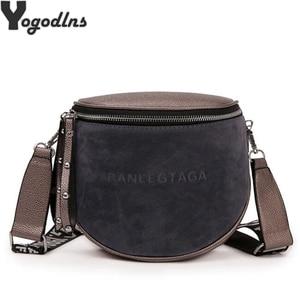 Women's Fashion Small Messenger Bags Lady Shouder Bag Bucket Bags Crossbody Tote Bag Females Handbag Semicircle Saddle