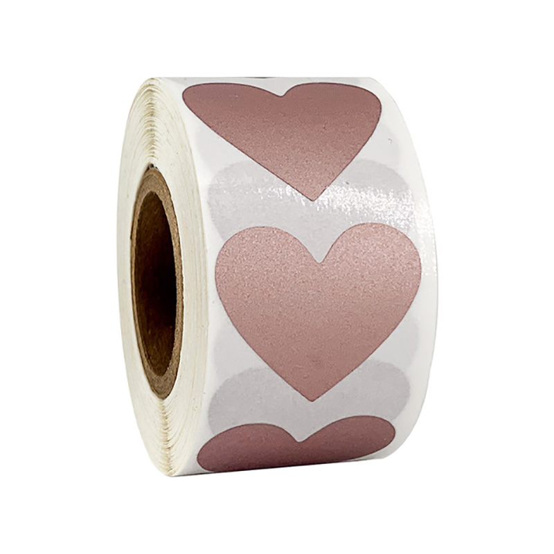 300Pcs Rose Gold Scratch Off Labels Stickers Heart-shaped  Custom Scratch-Off Raffle Card Game  Entertainment Stationery Sticker