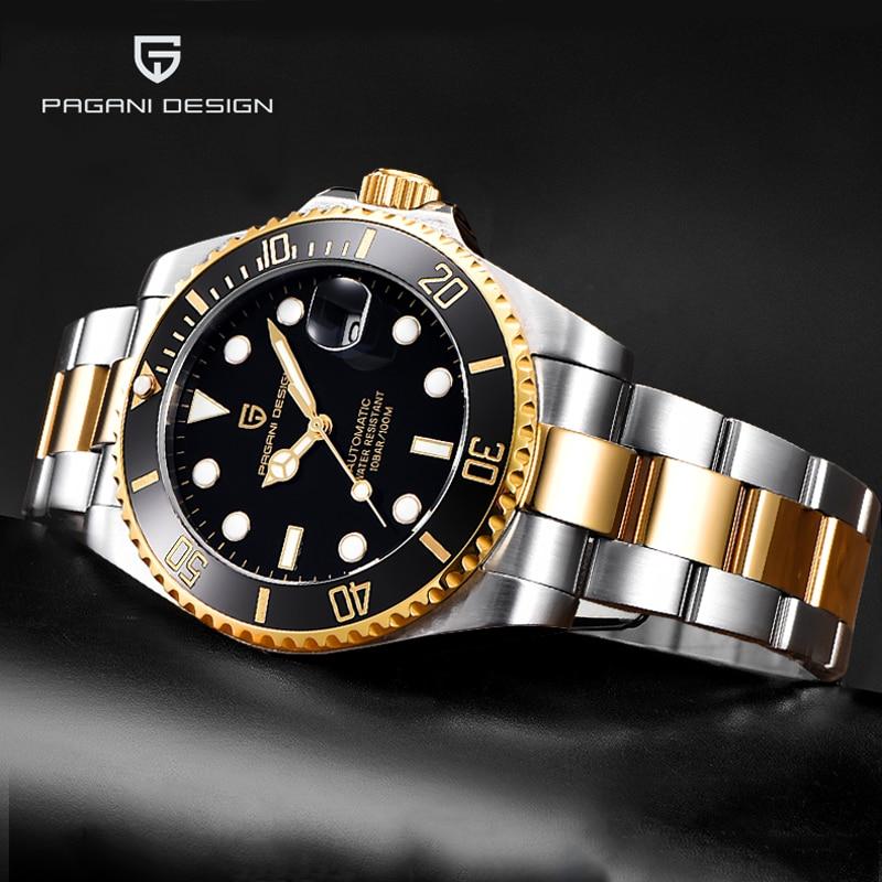 New PAGANI Design Brand Luxury Men Watches Automatic Gold Watch Men Waterproof Business Sport Mechanical Wristwatch Reloj Hombre