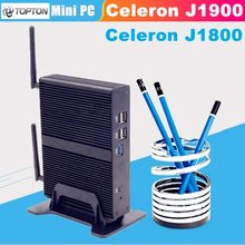 Celeron J1900 J1800 2.41GHz EGLOBAL Mini PC quad Core HDMI VGA display Mini Computer Windows 7 fanless design 1080P TV box pc(China)