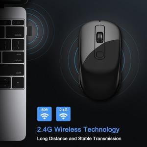 Image 2 - SeenDa, botones silenciosos, ratón inalámbrico de 2,4G para ordenador portátil, ratón de viaje portátil, Mini ratón Ultra delgado para ordenador portátil, PC de escritorio