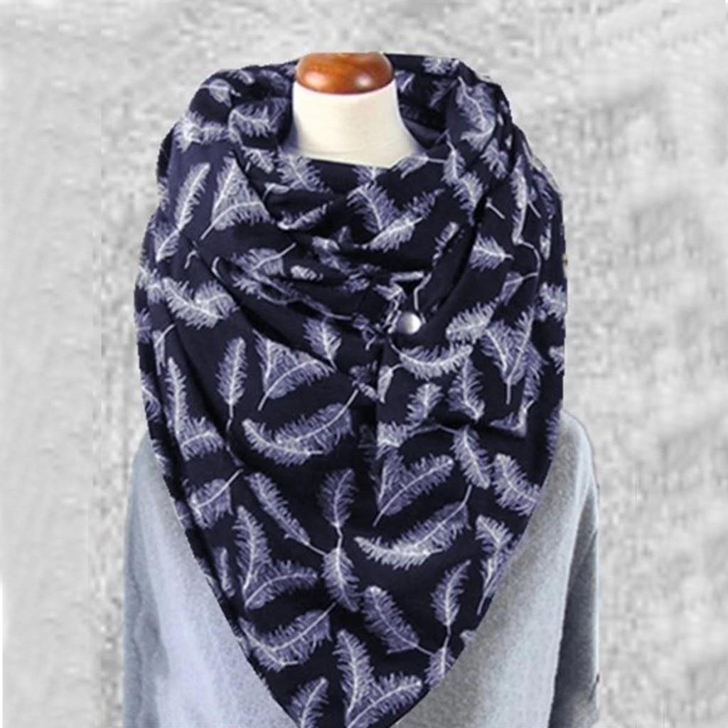ALI shop ...  ... 4000529826738 ... 2 ... Fashion Women Soild Dot Printing Button Soft Wrap Casual Warm Scarves Shawls Soft Casual 2020 dropshipping шарфов#G1 ...