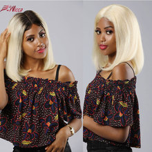 13x6 613 Blonde Short Bob Lace Front Human Hair Wigs For Black Women Brazilian Straight 1B Ombre colored Wig