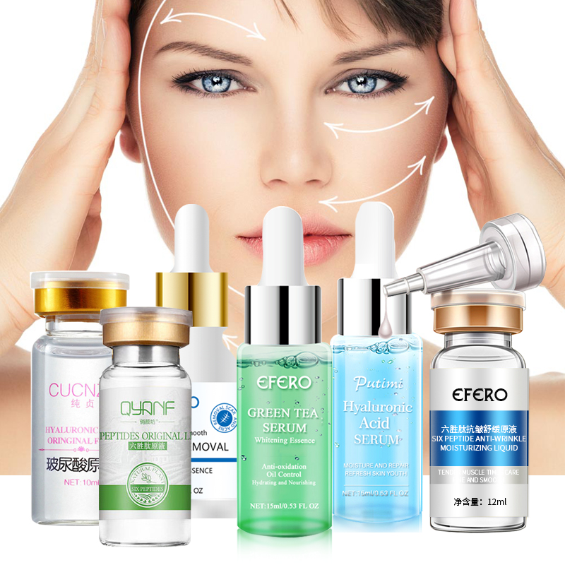 Argireline Hyaluronic Serum Six Peptides Anti Aging Wrinkle Essence Whitening Cream Acne Treatment Scar Removal Face Essence-in Serum from Beauty & Health