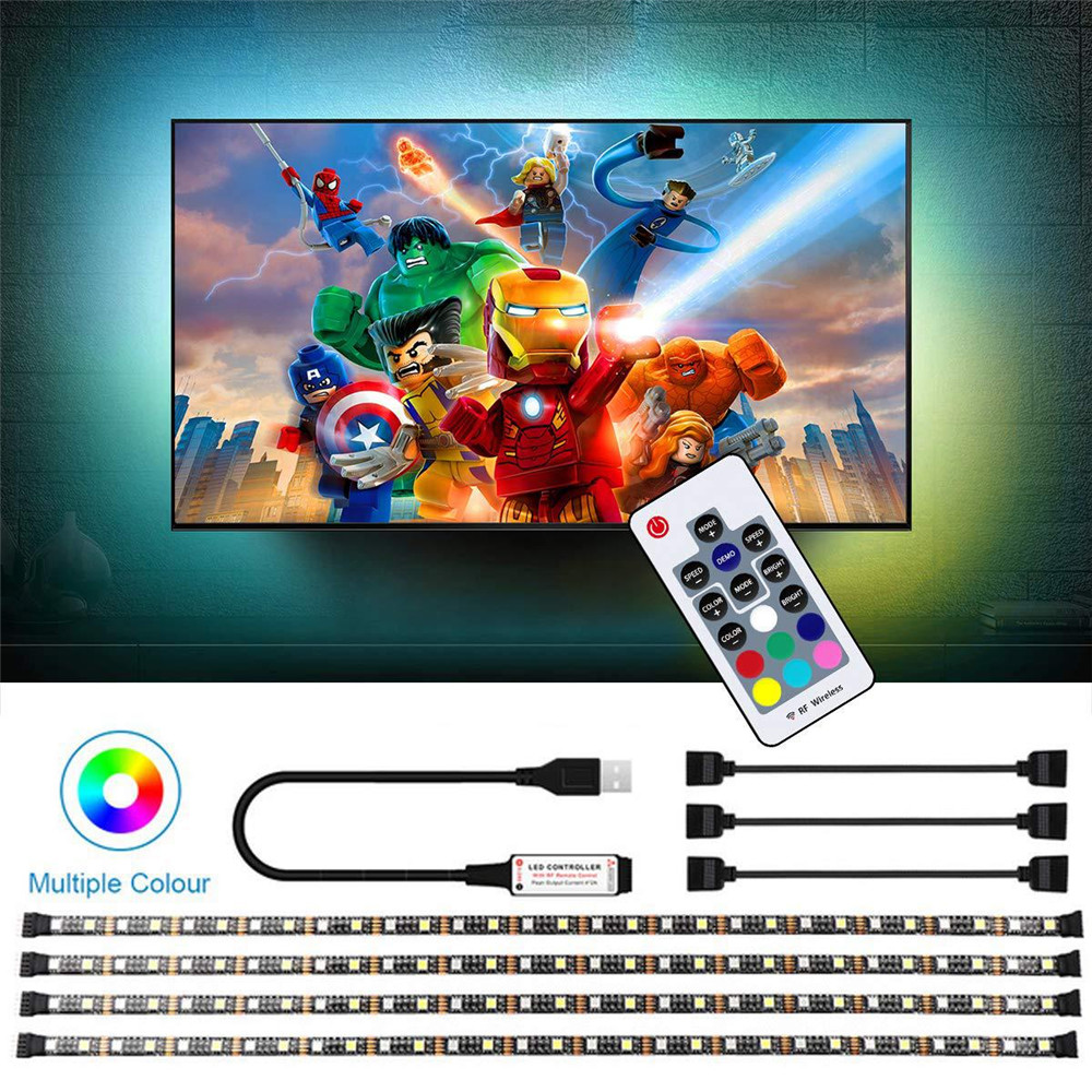 Rgbw Led Strip Rgb Tape Usb 5v Tv Backlight Light Rgbww Flexible Neon For Bicycle Pc Car Waterproof Ribbon Smd 5050 Ruban Lights