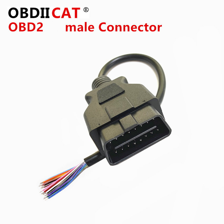 OBDIICAT High Quality For ODB OBD2 Cable 16 Pin 1 Male To 16 Pin 2 Female OBD II OBD2 Car Diagnostic Extension Cable