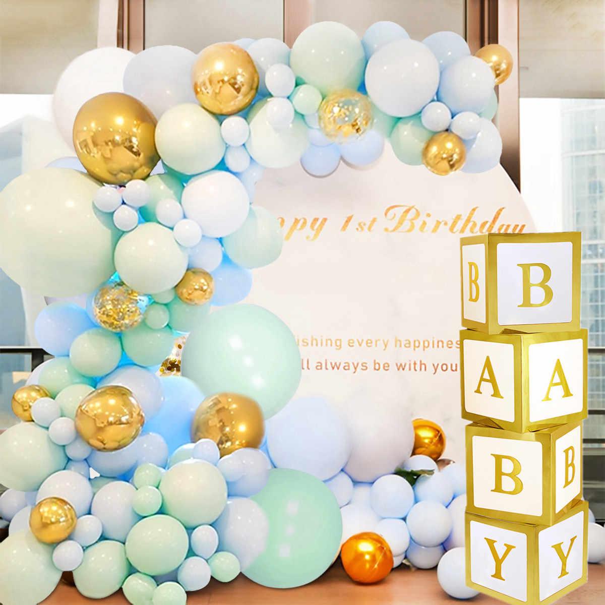 ベビーシャワー少年少女透明ボックスベビーシャワーの装飾洗礼誕生日パーティーの装飾段ボールボックスベビーシャワーのギフト