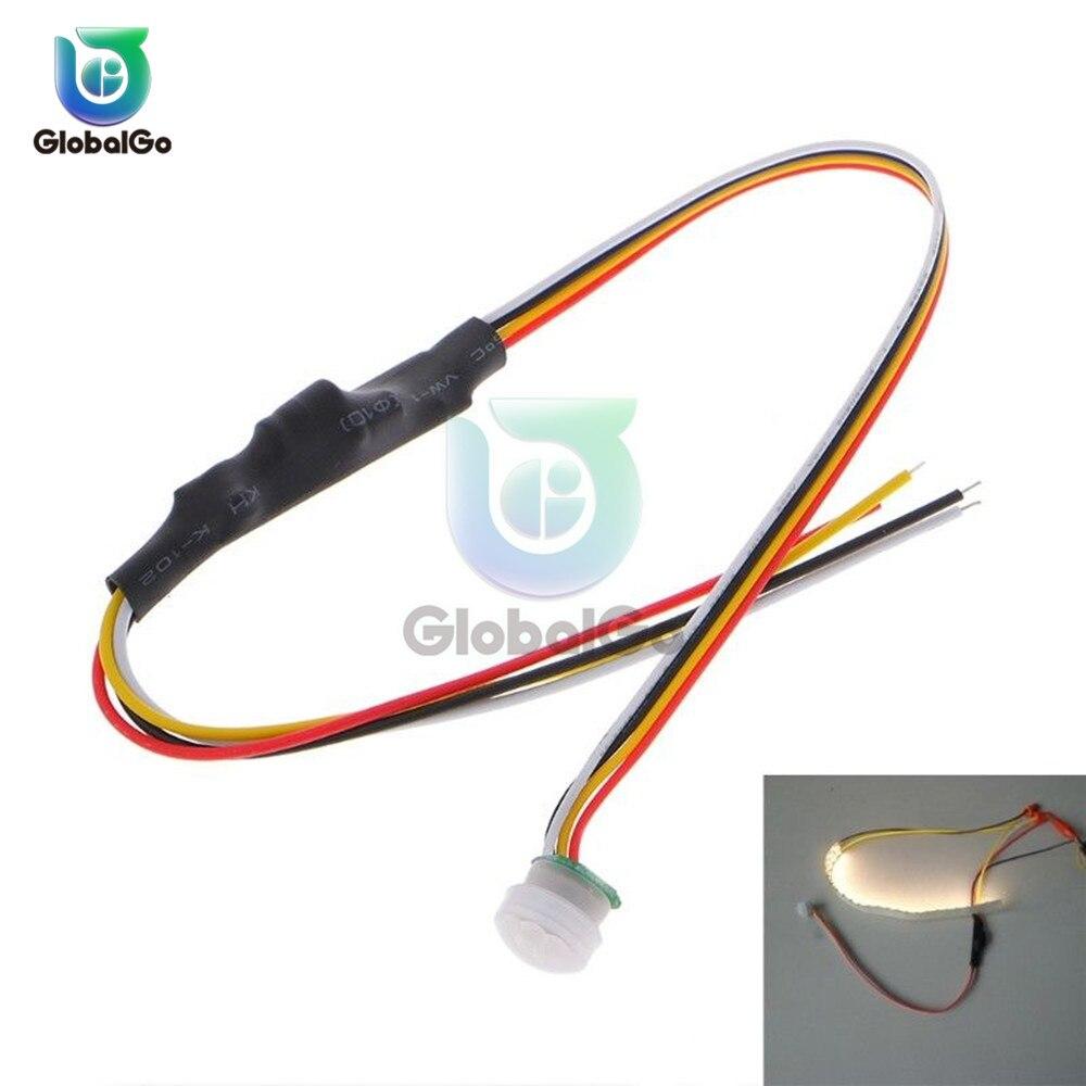 DC 5V -24V 1A Auto Infrared Sensor PIR Switch On Off Light Switch Light Lamp Infrared Sensor Module Detector Home Garden