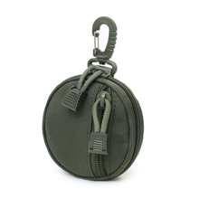 LKEEP New Round Tactical Wallet Pouch Portable Coin Key Pocket For Hunt Waist With Clip Outdoor Accessories Bag EDC Purse