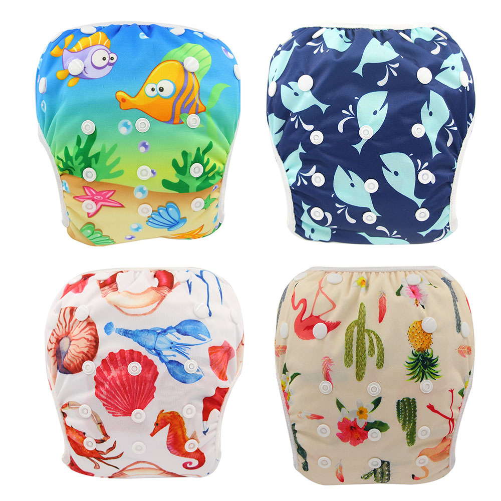 Ship Out Within 24 Hours Waterproof Swim Diapers Pool Pants Eco-friendly Baby Swim Diaper Pant Adjustable Size Suit For 3-15KG