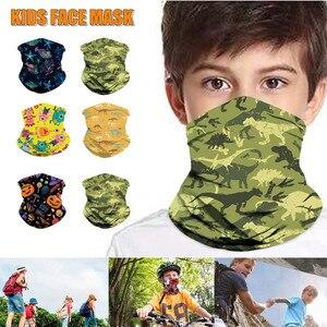kids Outdoor Camouflage Solid Bandana Buffs Neck Gaiter Headband Cycling Fishing Mask Scarf Multifunctional Headwear Unisex 2020