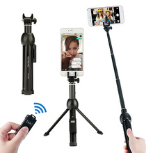 Roreta All in one Portable 45 Inch Wireless Selfie Stick Tripod Phone Tripod With Bluetooth Shutter Remote For iphone