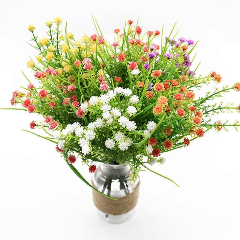 5 gabeln Vasen für home decor hochzeit braut zubehör freiheit Gypsophila kunststoff blume künstliche pflanzen Bouquet von blätter