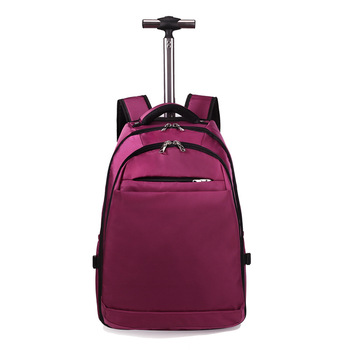 Backpack Solid Color Oxford Cloth Boarding Travel Bag Trolley Luggage Business Computer Backpack Travel Lugguge 20-Inch