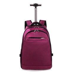 Femmes hommes Style d'affaires Double sangles sac de réduction de charge voyage sac à dos épaules couleur unie Oxford tissu