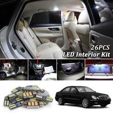 26 шт. 380LM Canbus Белый Автомобильный светодиодный светильник, лампы для салона, комплект для Mercedes Benz E Class W211 светодиодный светильник для салона 2003-2009