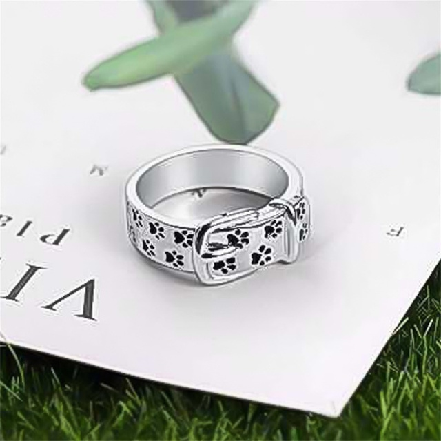 Silver Plated Dog Ring 3
