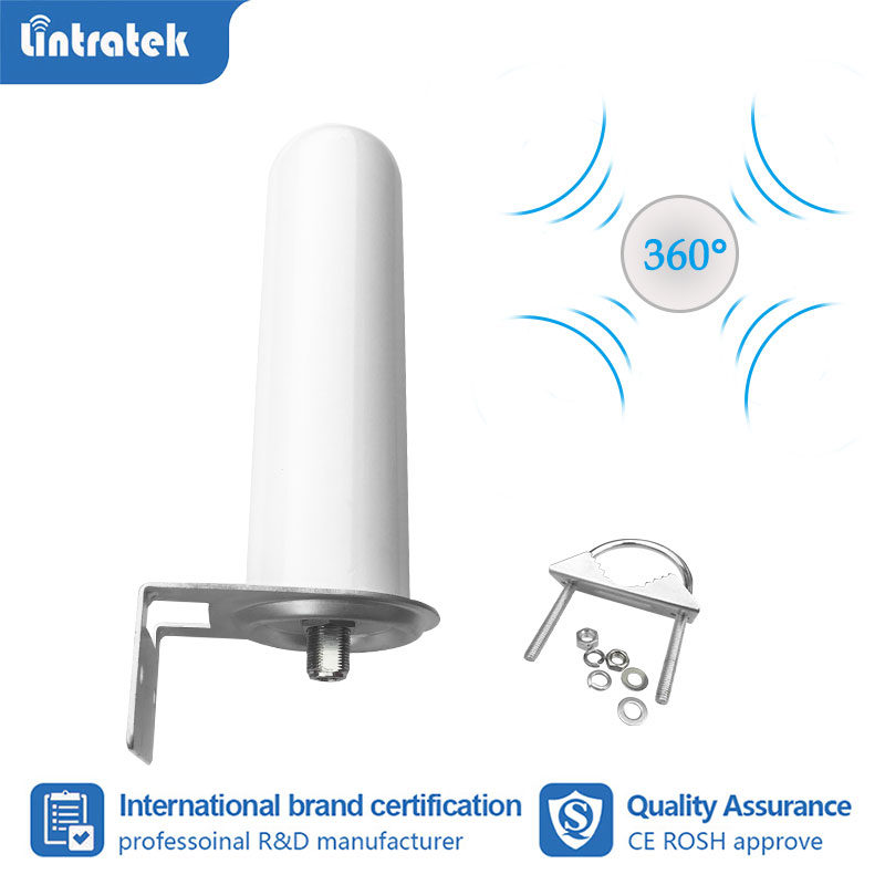 Lintratek Omni Directional Outdoor Antenna 360 Degree Receive Signal For 2g 3g 4g 1800 2100 900 Amplifier Repeater Booster S6