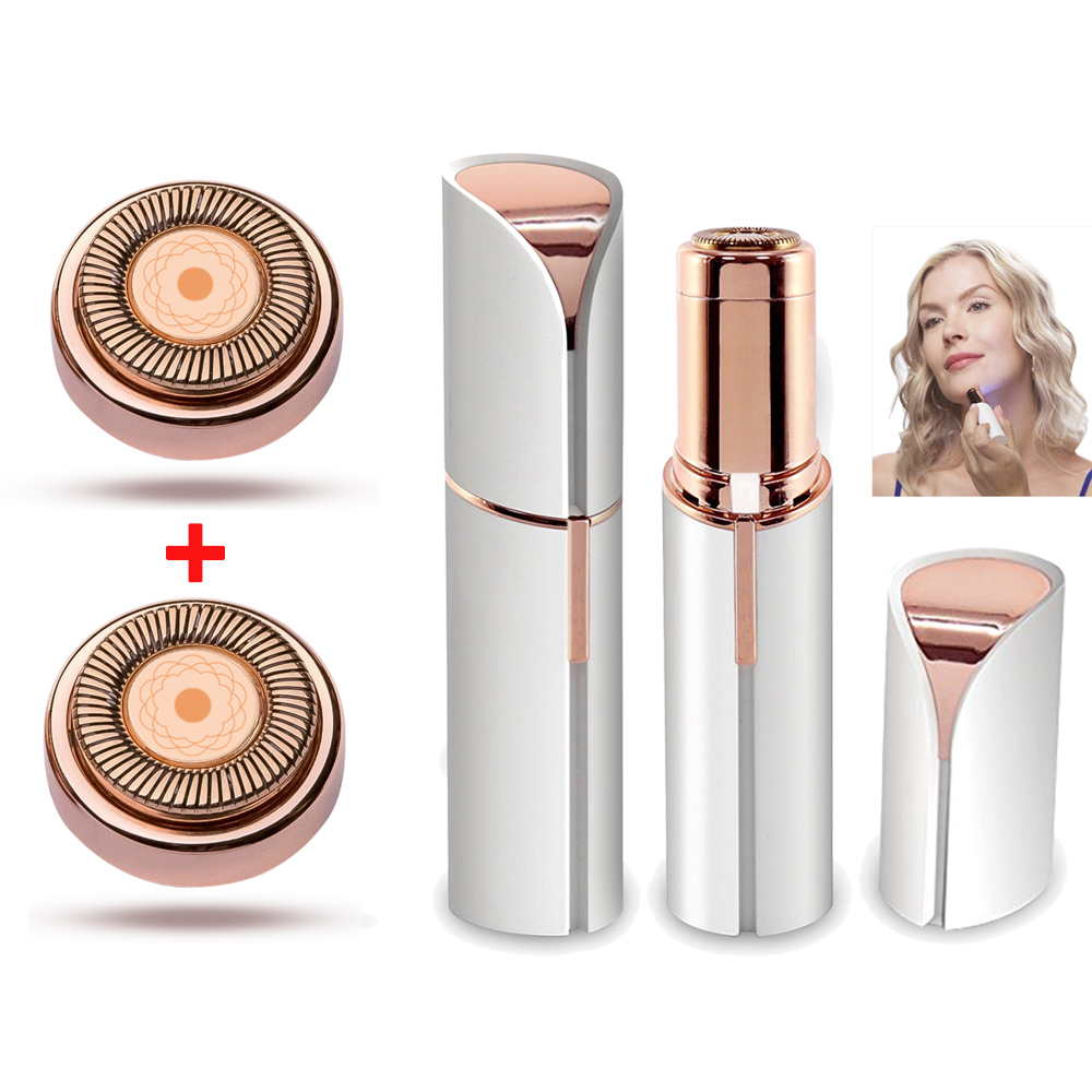 Mini Facial Hair Remover for Women Hair Remover Blade Heads Face Shavers Hair Removal Tool for Lip Chin Cheek-in Epilators from Home Appliances