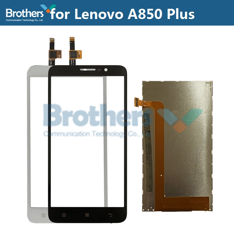1Set For <font><b>Lenovo</b></font> <font><b>A850</b></font> Plus <font><b>A850</b></font>+ A850Plus <font><b>LCD</b></font> Display + Touch Dcreen Digitizer <font><b>LCD</b></font> Screen Original Phone Parts Replacement Test image