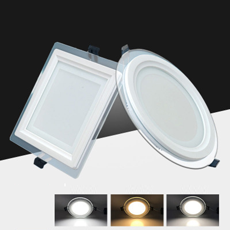 4W <font><b>12V</b></font> Round Glass <font><b>LED</b></font> <font><b>Downlight</b></font> Recessed <font><b>LED</b></font> Panel Light Spot Ceiling Down Light Warm/Natural/Cold White/3 Color image