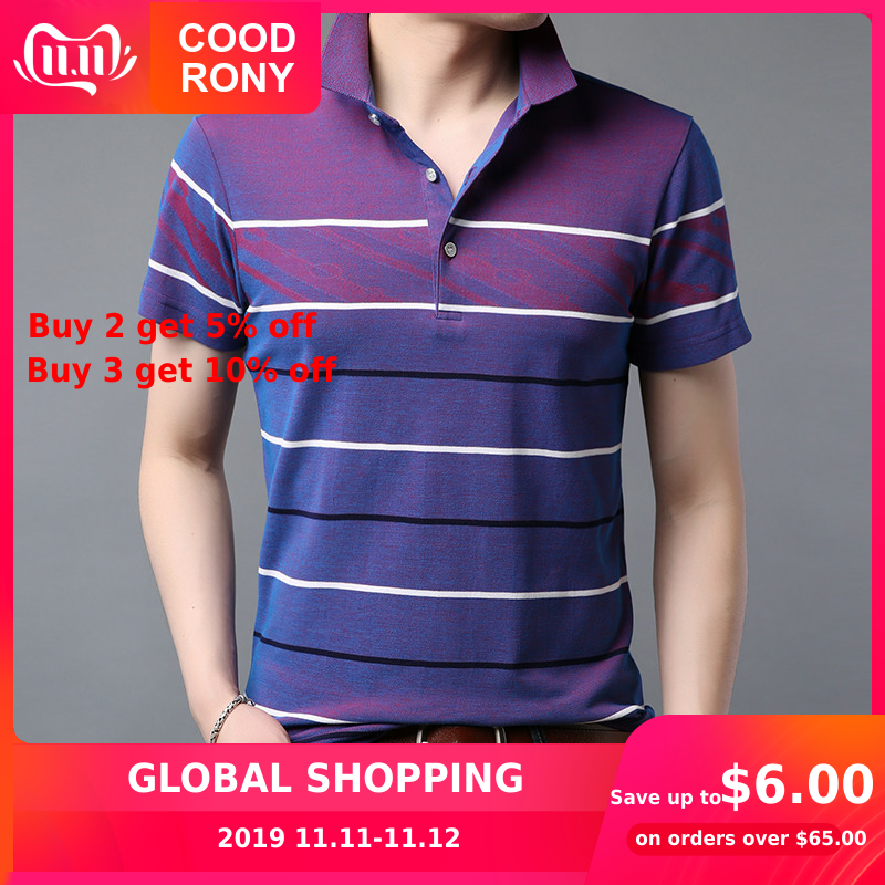 COODRONY T Shirt Men Spring Summer Streetwear Fashion Striped Design Casual T-Shirt Men Cool Short Sleeve Tee Shirt Homme S95071
