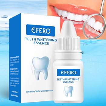 EFERO zęby serum wybielające żel Dental higiena jamy ustnej skuteczne usuwanie plamy tablica czyszczenie zębów esencja opieka stomatologiczna pasty do zębów tanie i dobre opinie 1PCS HU3R11 Wybielanie zębów Teeth Whitening Essence Umiarkowane White Teeth System Removes Plaque Stains teeth whitening kit