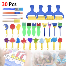 30PC Children Toys Washable Finger Paint Brush Set Art Craft Supplies Suitable for 3-6 Years Old Preschool Fun Gifts