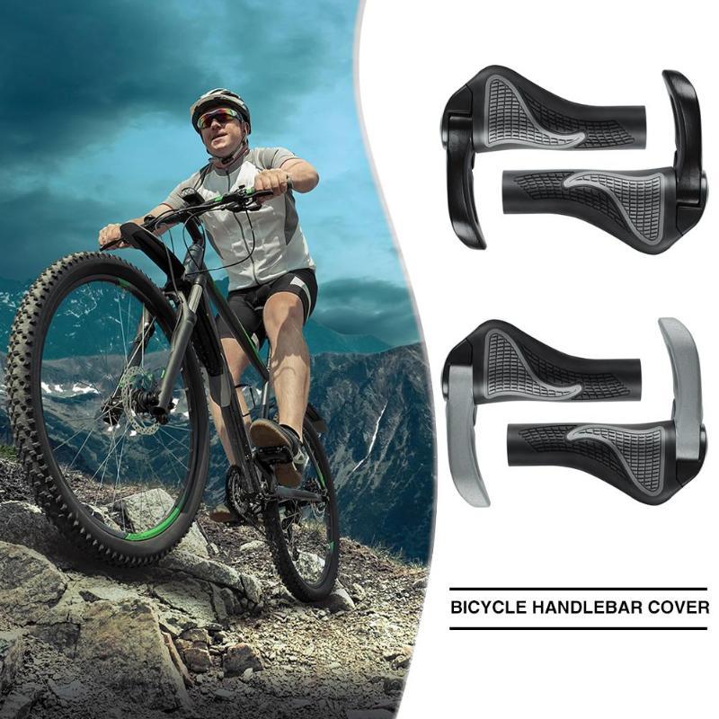 1 Pair Bicycle Grips Rubber Aluminum Alloy MTB Mountain Road Bike Non-slip Ergonomic Handlebar End Covers Cycling Equipment