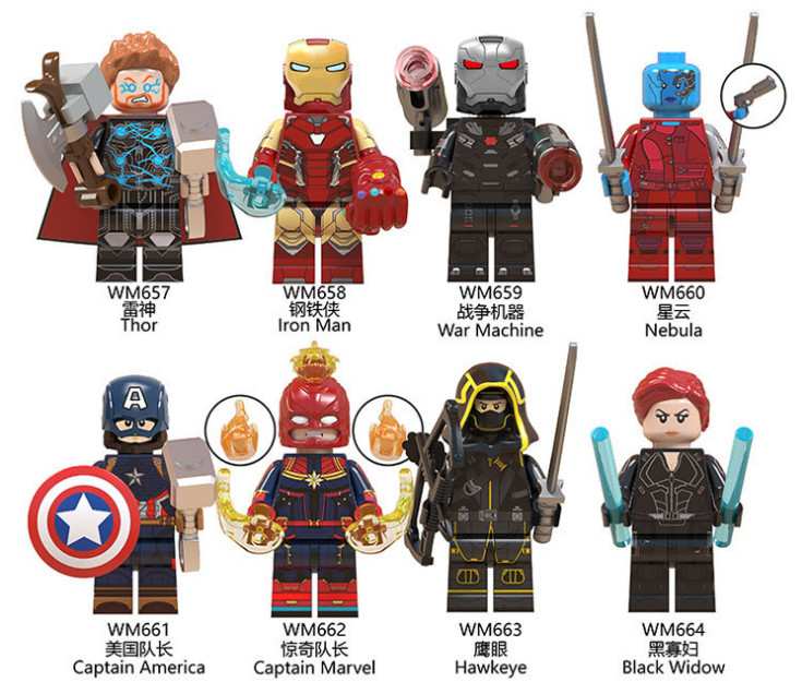 Marvel Avengers 4 Endgame Captain America Hulk Building Blocks Figures Iron Man Cap Marvel Black Widow Legoed Toys For Children