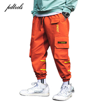 New Autumn Japan Style Color Patchwork Waist Stylish Men's Joggers Trousers Fashion Casual Cargo Pants Streetwear Size M-3XL
