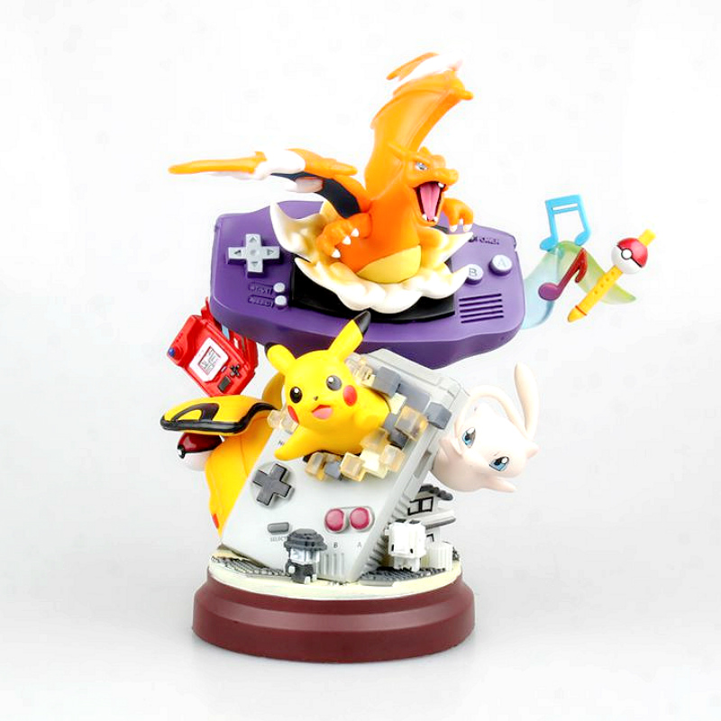 6pcs Pokemon Charmander Meowth Jigglypuff Resin Figure Statue
