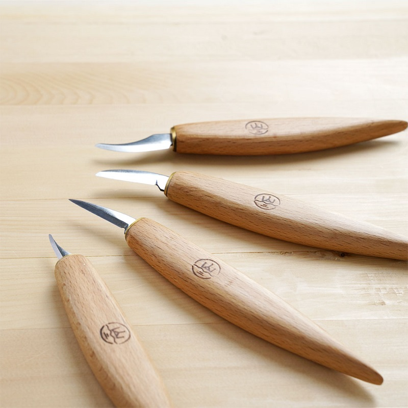 4pcs/set Carving knives Handmade wood carving knives Fine high carbon steel knife set|Hand Tool Sets| |  - title=