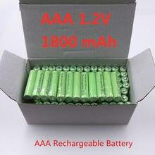 100% Newe oryginalny AAA 1800 mAh 1.2 V jakości akumulator AAA 1800 mAh Ni-MH akumulator 1.2 V 2A baterii