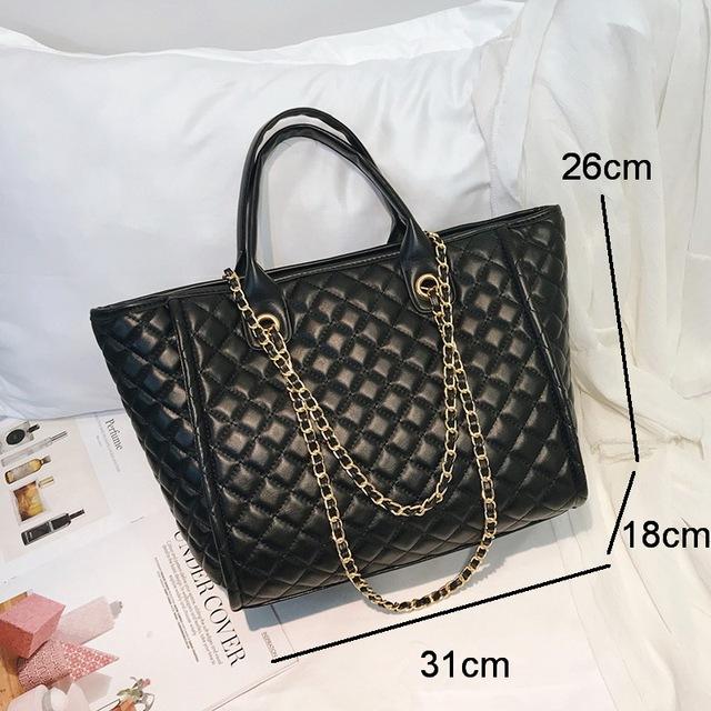 Diamond Lattice Designer Women Chain Shoulder Bags