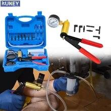 DIY Universal Hand Held Brake Fluid Bleeder Bleeding Vacuum Pump Tester Fluid Reservoir Pressure Gauge Lids Adapter Hose Case