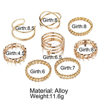 IF ME 30pcs/set Vintage Punk Gold Ring Set for Women Men Fashion Retro Antique Finger Ring Fashion Party Jewelry Lot 2019 NEW 3