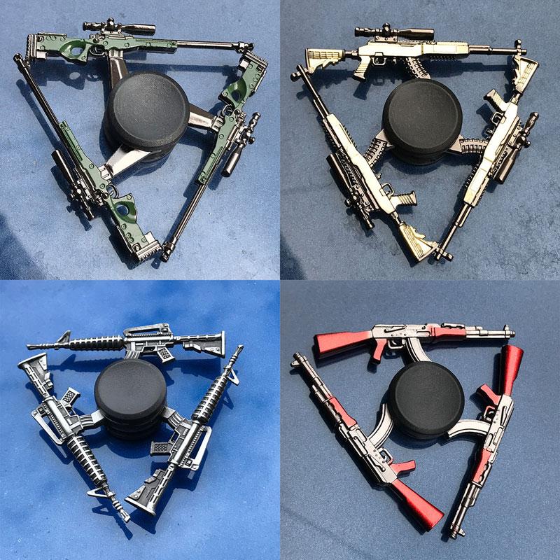 AK47 M14 Bullet A Hand  The Shells Stress Relief Toys For Children Fidget Spinner