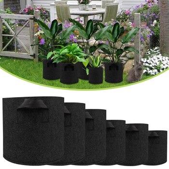Dropshipping Non Woven Plant Pots Grow Bag Breathable Vegetable grow Bag with Handles Garden Supplies Grows Culture D30 эксмо магнитные garden culture
