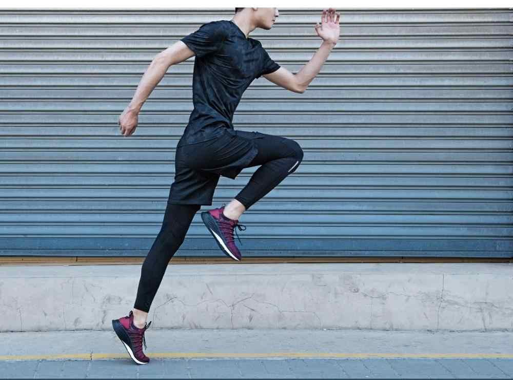 Имеются на складе! Xiaomi Mijia кроссовки 3 Мужские Спорт на открытом воздухе Uni-moulding 3D Fishbone Lock system Вязание верхние мужские кроссовки