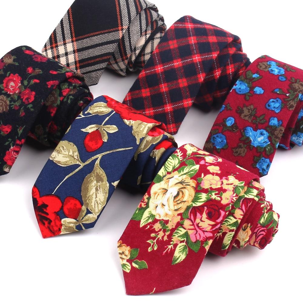 Men Ties Cotton Neckties For Men Women Formal Floral Print Neck Tie For Wedding Party Skinny Groom Tie Corbatas Hombre Cravat