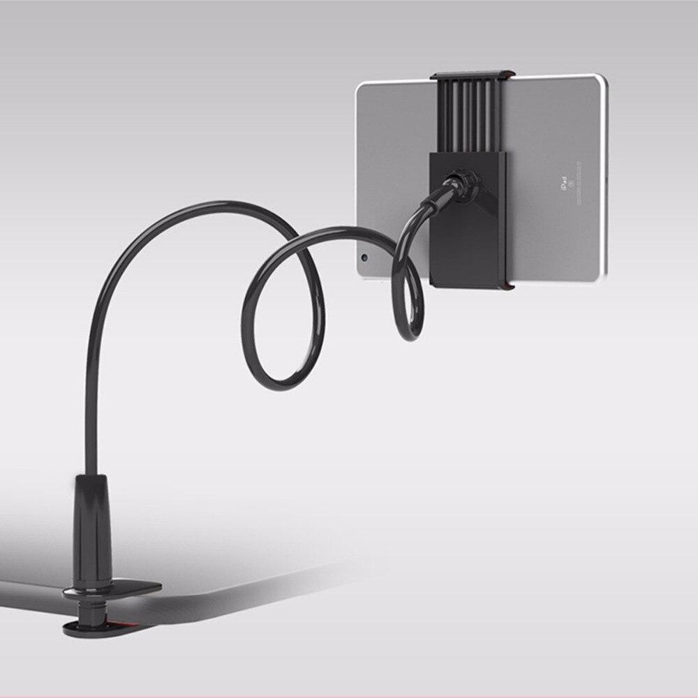 "Gooseneck Tablet Holder 360 Rotating Flexible Long Arm lazy Phone Holder Clamp Bed Tablet Car Selfie Mount Bracket for 4-10"""