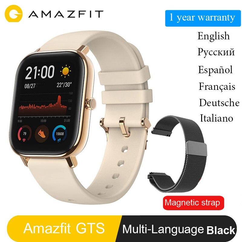 Versión Global Amazfit GTS reloj inteligente Huami GPS profesional impermeable ritmo cardíaco natación deporte reloj 14 días batería en espera