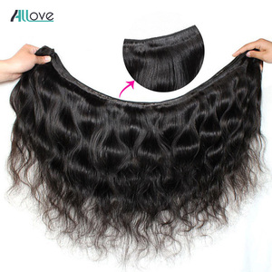 Image 2 - Brazilian Body Wave Bundles With Closure Allove 4X4 5X5 Closure With Bundles 100% Human Hair Bundles with Closure Non Remy
